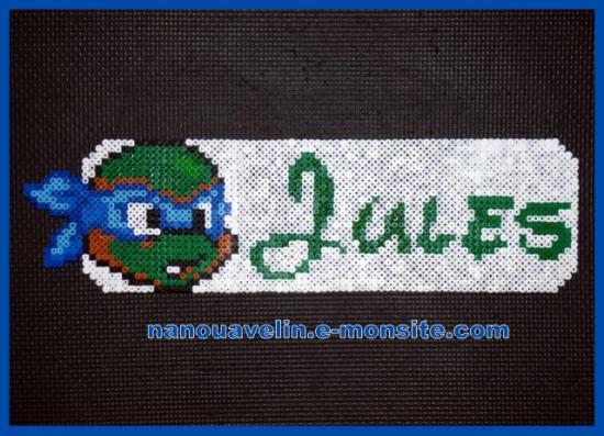 Plaque de porte hama - tortue ninja