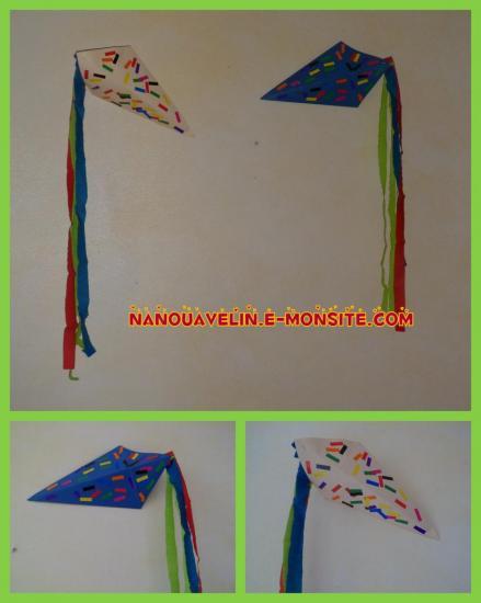 Bricolage enfant - cerf-volant en papier