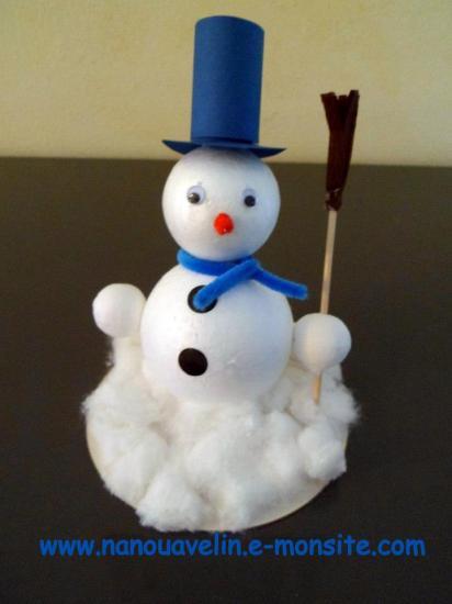 Bonhomme de neige en polystyr ne - Pinterest bonhomme de neige ...